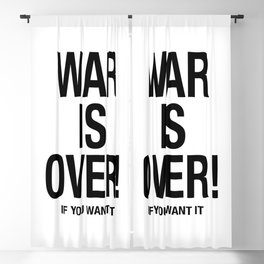 War is over Blackout Curtain