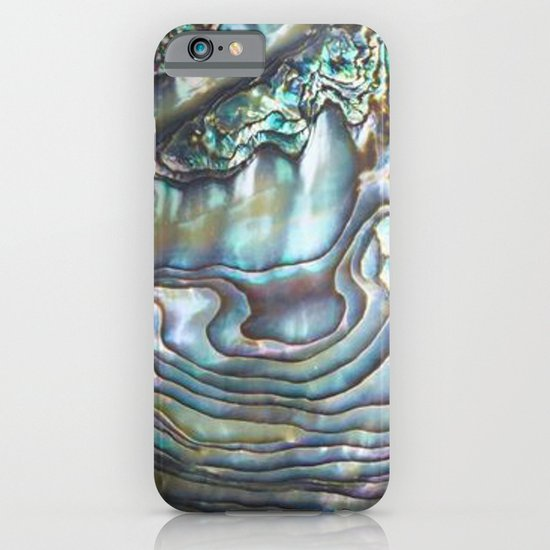 Free Shipping 4pcs Shell Pearl Beach Wall Painting Print: Shimmery Pastel Abalone Shell IPhone Case By