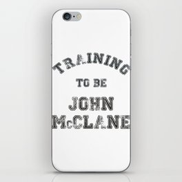 Training to be John McClane iPhone Skin