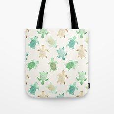 Gilded Jade & Mint Turtles Tote Bag