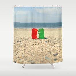 Gummy Bear Beach Kiss Shower Curtain