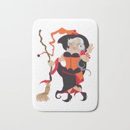 Granny Hex (Orange) Bath Mat