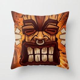 Happy Tiki Throw Pillow