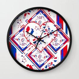 Patriotic Love Fest Wall Clock