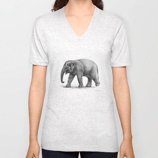 Elephant Baby G092 Unisex V-Neck