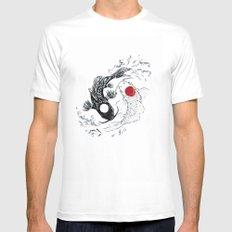 Koi fish ying yang White MEDIUM Mens Fitted Tee