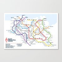 skyrim Canvas Prints featuring Skyrim Metropolitan Railway by Miguel Sanz