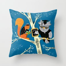 Woodland Arithmetic Throw Pillow