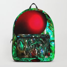 Baubles, Beads and Tinsel Holiday Decor Backpack