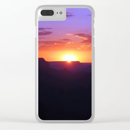Colorful Grand Canyon Sunset Clear iPhone Case