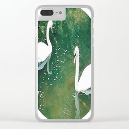 Two Swans Clear iPhone Case
