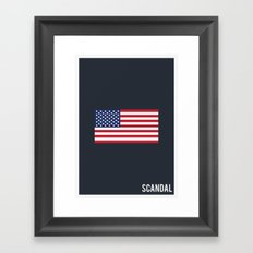 Scandal - Minimalist Framed Art Print