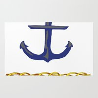 nautical Area & Throw Rugs featuring Nautical by DesignSam