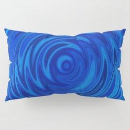 Water Moon Cobalt Swirl Pillow Sham
