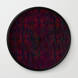 Red lace on waves Wall Clock