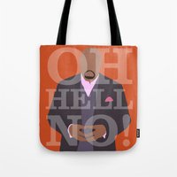 pushing daisies Tote Bags featuring Pushing Daisies - Emerson by MacGuffin Designs