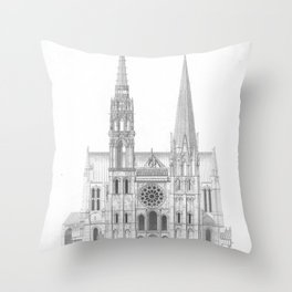 Cathedrale De Chartres Chartres Cathedral Throw Pillow