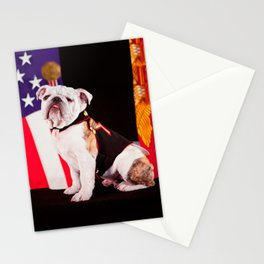 Bulldog Navy Official Mascot Dog Stationery Cards
