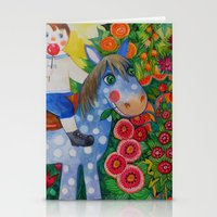 pony Stationery Cards featuring Pony by oxana zaika