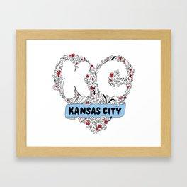 Kansas City Love Framed Art Print