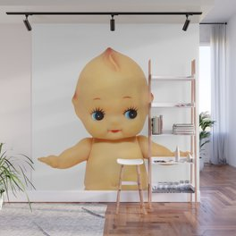 Cute little naked baby doll. Wall Mural