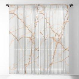 Golden marble Sheer Curtain