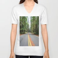 giants V-neck T-shirts featuring Avenue Of The Giants by Kim Ramage