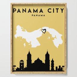 PANAMA CITY PANAMA LOVE CITY SILHOUETTE SKYLINE ART Serving Tray