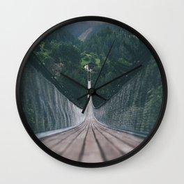 Crossing bridges. Wall Clock