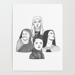 Women Doctors of the Church Poster