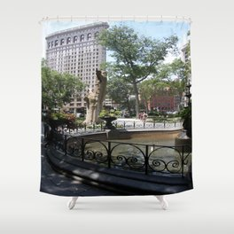 Flatiron From Madison Square Park NYC Shower Curtain