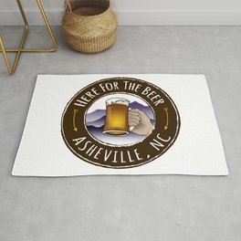 Asheville Beer - AVL 6 Full Color Rug