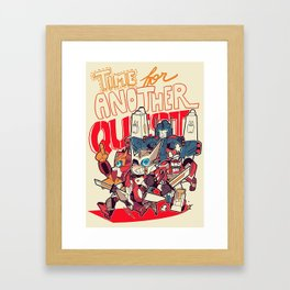 """""""Time for another Quest!"""" Framed Art Print"""