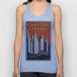 Vintage poster - Capitol Limited Unisex Tank Top