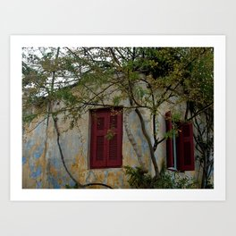 Greek Cottage Art Print