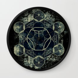Sacred Geometry for your daily life -  Platonic Solids - ETHER Wall Clock