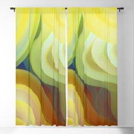 Colorful Curves Blackout Curtain