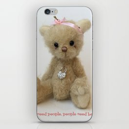 Chicago Teddy bear quote iPhone Skin