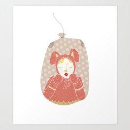 wabbit in a bag Art Print