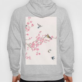 Birds and cherry blossoms Hoody