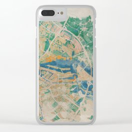 Amsterdam, the watercolor beauty Clear iPhone Case