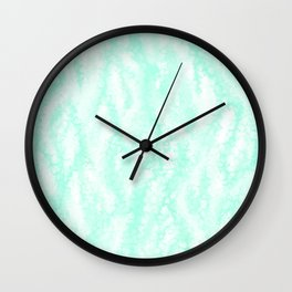 Pastel Mint Waves Wall Clock