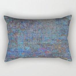 Blue Trash Rectangular Pillow