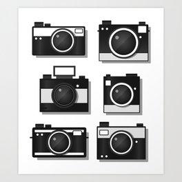 Vintage Camera Illustration Art Print