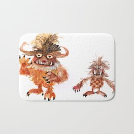 Hairy Monsters Bath Mat