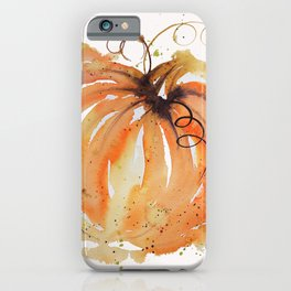 Abstract Watercolor Pumpkin iPhone Case