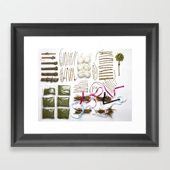 Packed Christmas Framed Art Print