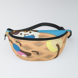 Waffles and Ice Cream Fanny Pack