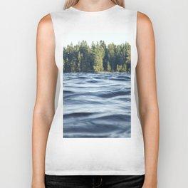 Summer Forest Lake Biker Tank