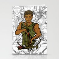 daryl Stationery Cards featuring Daryl by Aqua Ink Graphics